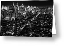 Manhattan At Night Greeting Card