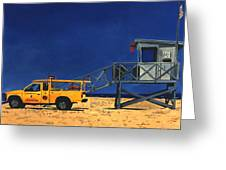 Manhattan Beach Lifeguard Station Side Greeting Card