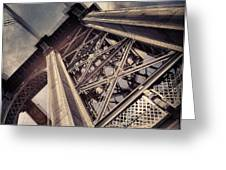 Manhattan Bridge From Below Greeting Card