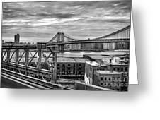Manhattan Bridge Greeting Card by John Farnan