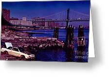 Manhattan Bridge New York City Greeting Card