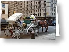 Manhattan Buggy Ride Greeting Card