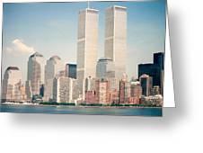 Manhattan Circa 1990 Greeting Card