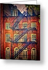 Manhattan Facade Greeting Card