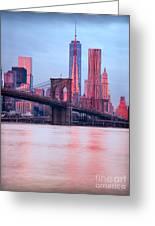 Manhattan -  New York City - Usa Greeting Card
