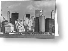 Manhattan New York Greeting Card