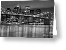 Manhattan Night Skyline Iv Greeting Card