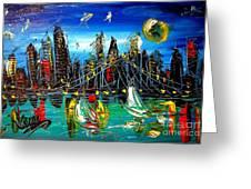 Manhattan Ny Greeting Card