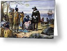 Manhattan Purchase, 1626 Greeting Card