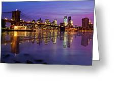 Manhattan Reflection Greeting Card