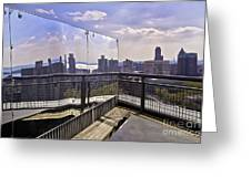 Manhattan Reflections Greeting Card