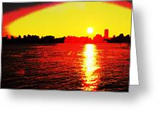 Manhattan Sunrise  Greeting Card