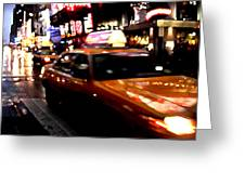 Manhattan Taxis Greeting Card