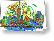 Manhattan Twirl Greeting Card