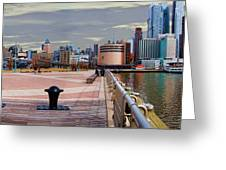 Manhattan West Side Panorama Greeting Card