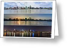 Manhattanhenge View From Across East River Greeting Card by Sasha Karasev