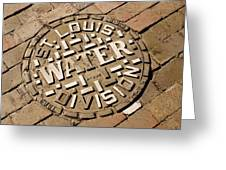 Manhole Cover In St Louis Greeting Card