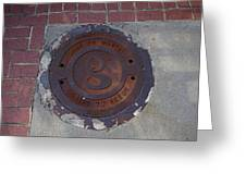 Manhole II Greeting Card