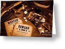 Manhunter - Sepia Greeting Card