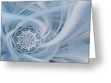 Manifest Beauty In Blue Greeting Card