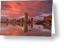 Manila At Sunset Greeting Card