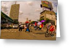 Manila Crosswalk 6292972 Greeting Card