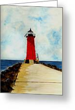 Manistique Breakwater Lighthouse Greeting Card