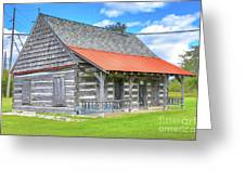 Manistique Schoolcraft County Museum Log Cabin -2158 Greeting Card