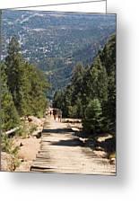 Manitou Springs Pikes Peak Incline Greeting Card