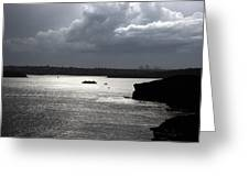 Manly Ferry And Storm Clouds Greeting Card