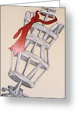 Mannequin With Red Tie Greeting Card