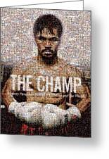 Manny Pacquiao-the Champ Greeting Card