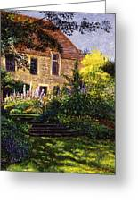 Manor House Steps Greeting Card