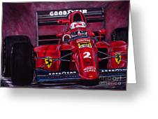 Mansell Ferrari 641 Greeting Card