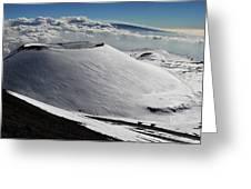 Mauna Kea Dressed In Snow Greeting Card