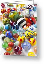 Many Beautiful Marbles Greeting Card