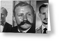 Many Faces Of  Assassin John Dane 2         Greeting Card