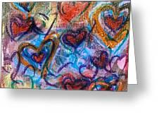 Many Hearts Greeting Card