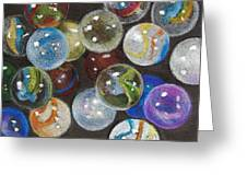 Many Marbles Greeting Card