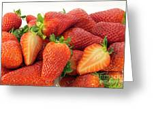 Many Strawberry Greeting Card