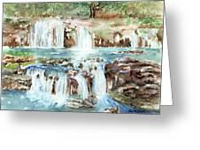 Many Waterfalls Greeting Card