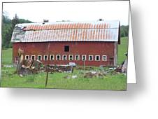 Many Windowed Barn  Washington State Greeting Card
