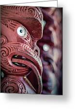 Maori Carving Greeting Card