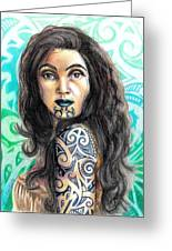 Maori Woman Greeting Card