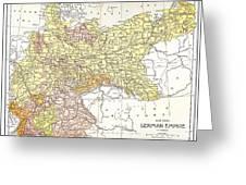 Map: German Empire Greeting Card