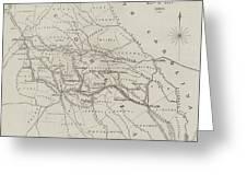 Map Illustrating General Sherman's March Through Georgia  Greeting Card