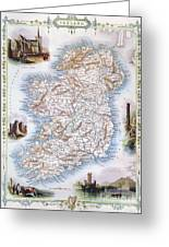 Map: Ireland, 1851 Greeting Card