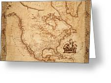 Map Of America 1800 Greeting Card