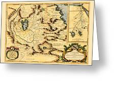 Map Of Africa 1690 Greeting Card