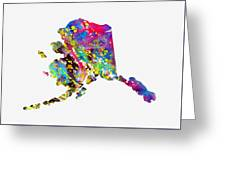 Map Of Alaska-colorful Greeting Card